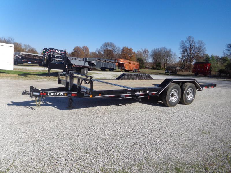 Delco 102 x 16'+4' Bumper Pull 14000# Partial Tilt FULL WIDE FLOOR Flatbed Trailer