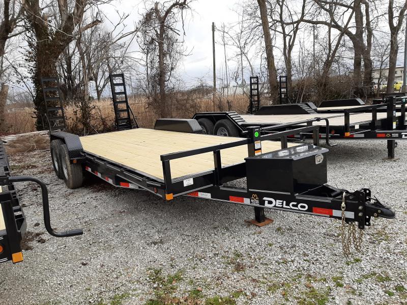 """Delco 83"""" x 18'+2' Bumper Pull 14000# Flatbed"""