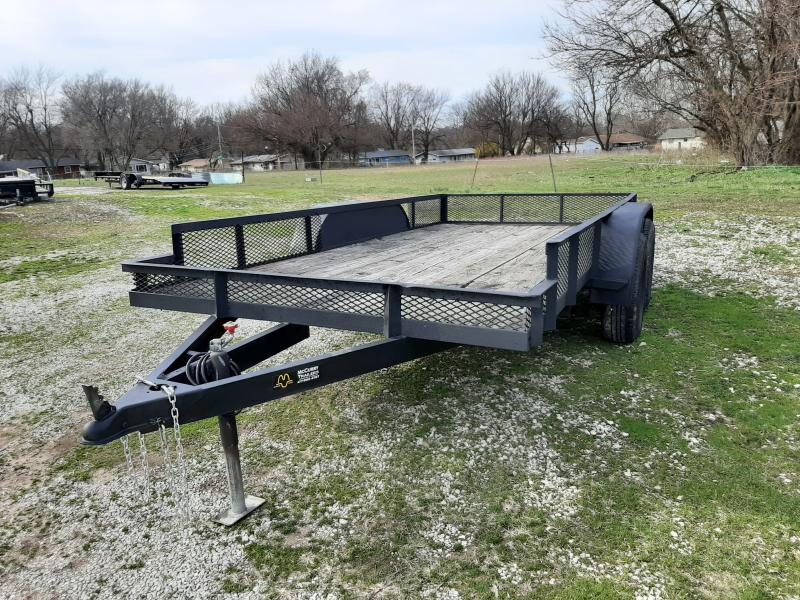 USED 1992 Hull 76 x 14' Tandem Utility Trailer
