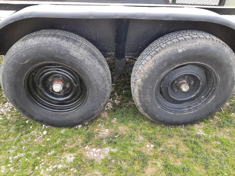 USED 1992 Hull 76 x 14' Tandem Utility Trailer