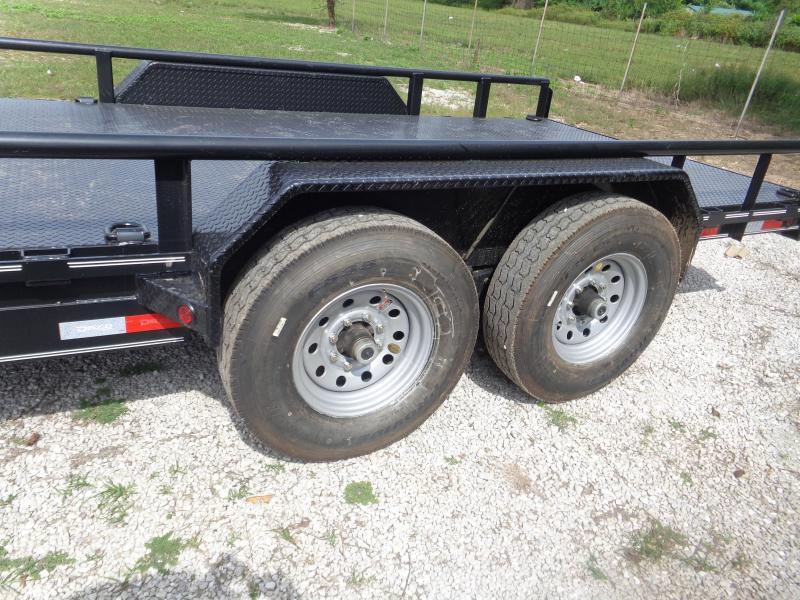 """Delco 83"""" x 18' Bumper Pull 14000# Flatbed"""