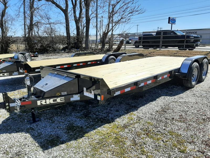 Rice 82 x 18'+2' 9900# Upgraded Car Hauler Bumper Pull Flatbed Trailer