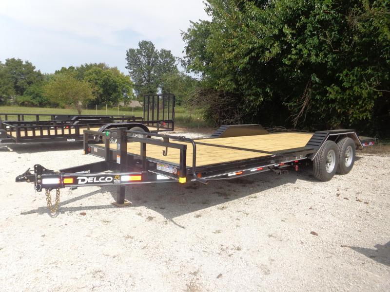 Delco 102 x 16'+6' Bumper Pull 14000# FULL WIDE FLOOR Partial Tilt