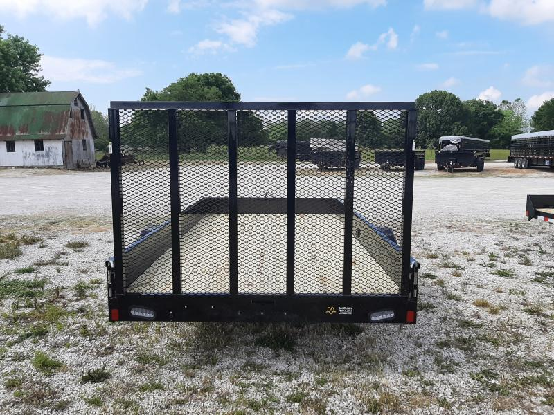 Rice 76 x 12' Stealth Bumper Pull Black w/ Black-out Utility Trailer