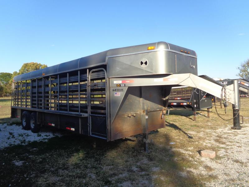 USED 2015 Kodiak 24 x 7 Metal Top Livestock Trailer