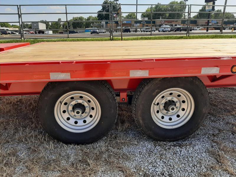 """Delco 102""""x 20'+5' Bumper 14000 Deckover Equipment Trailer W/ MAX Ramps"""