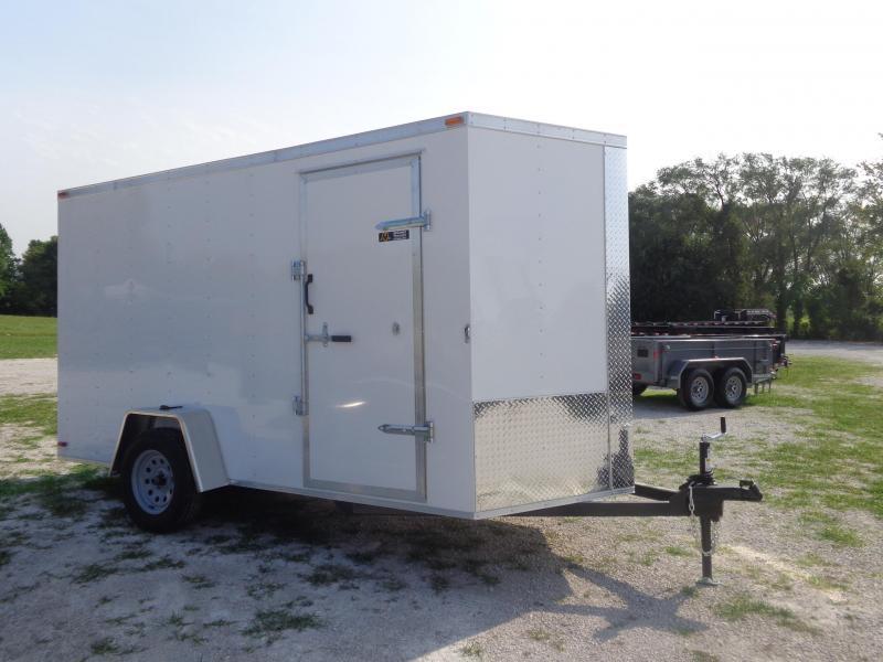 Box Cargo 6'x12' White Bumper Pull Enclosed Cargo Trailer
