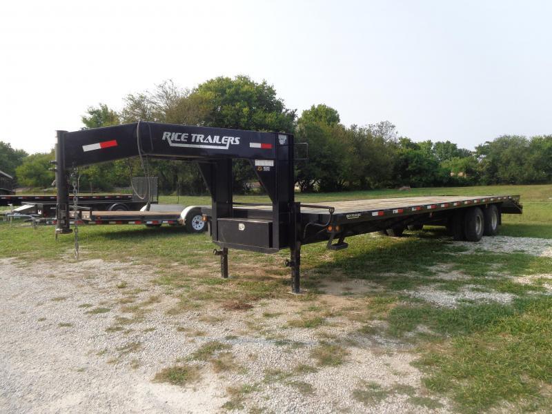 "USED 2013 Rice 102""x27'+5' Gooseneck 22000# Deckover Equipment Trailer"