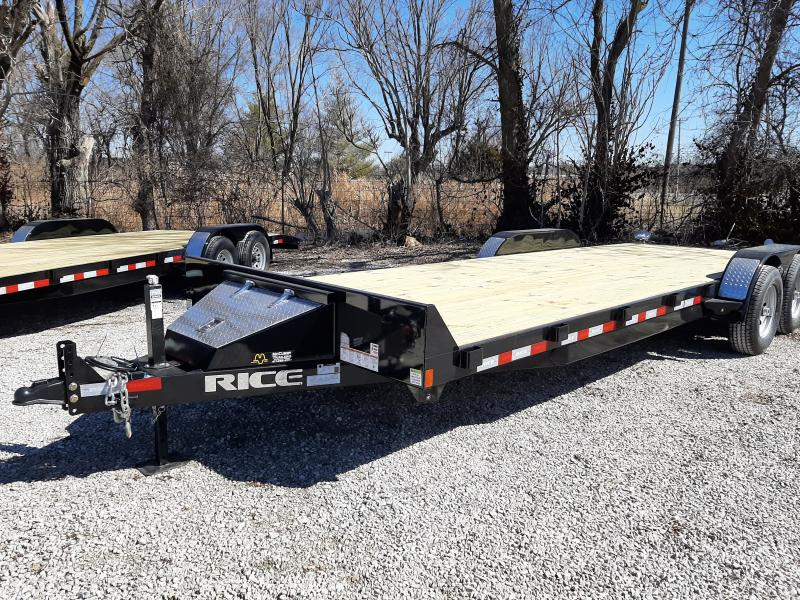 Rice 82 x 20'+2' 9900# Upgraded Car Hauler Bumper Pull Flatbed Trailer