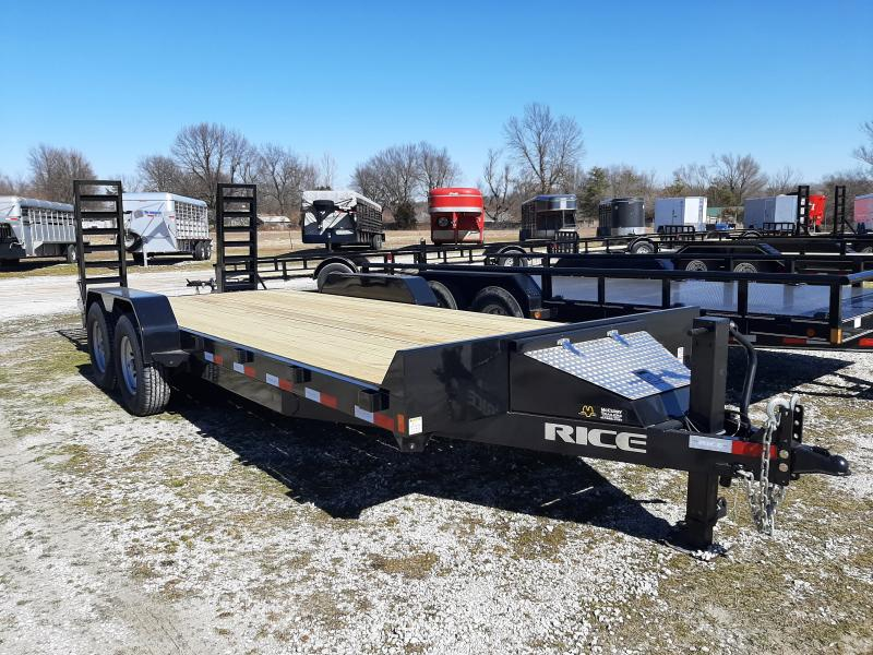 Rice 82 x 20+2 14000# Bumper Pull Heavy Duty Flatbed Trailer