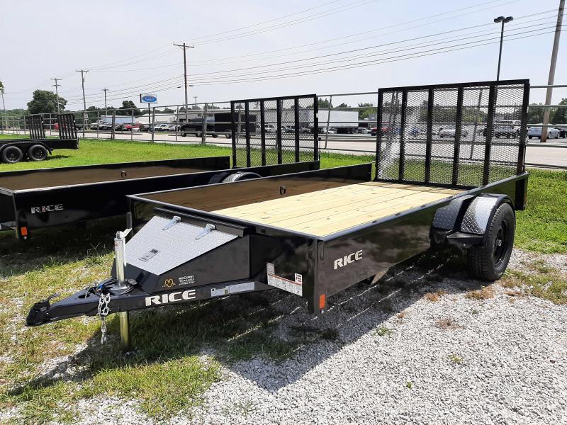 Rice 76 x 12' Stealth Bumper Pull Black Utility Trailer