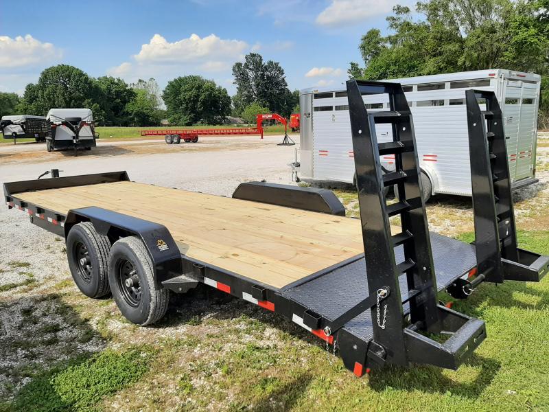 Rice 82 x 20+2 14000# Bumper Pull Heavy Duty Flatbed Trailer