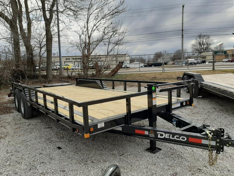 Delco 102 x 18'+4' Dovetail Bumper Pull 14000# Flatbed Trailer