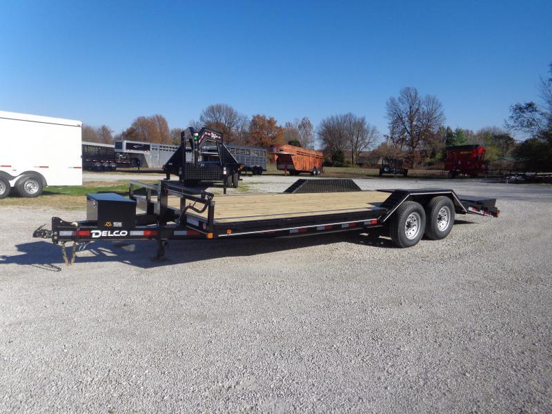 """Delco 102""""x18'+4' Dovetail Bumper Pull 14000# Flatbed Trailer"""