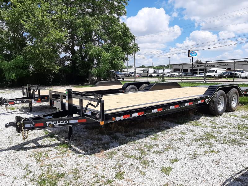 Delco 102 x 20'+4' Dovetail Bumper Pull 14000# Flatbed Trailer