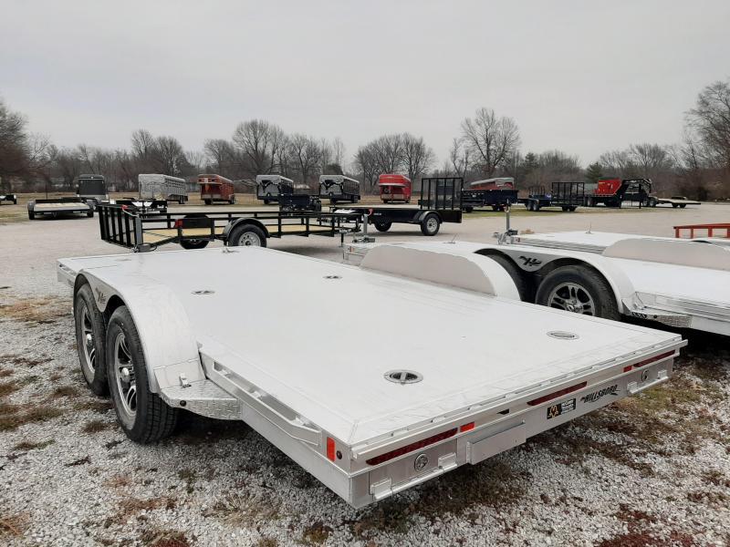 Hillsboro 16' x 6'10 Aluminum Bumper Pull Car Hauler Flatbed Trailer