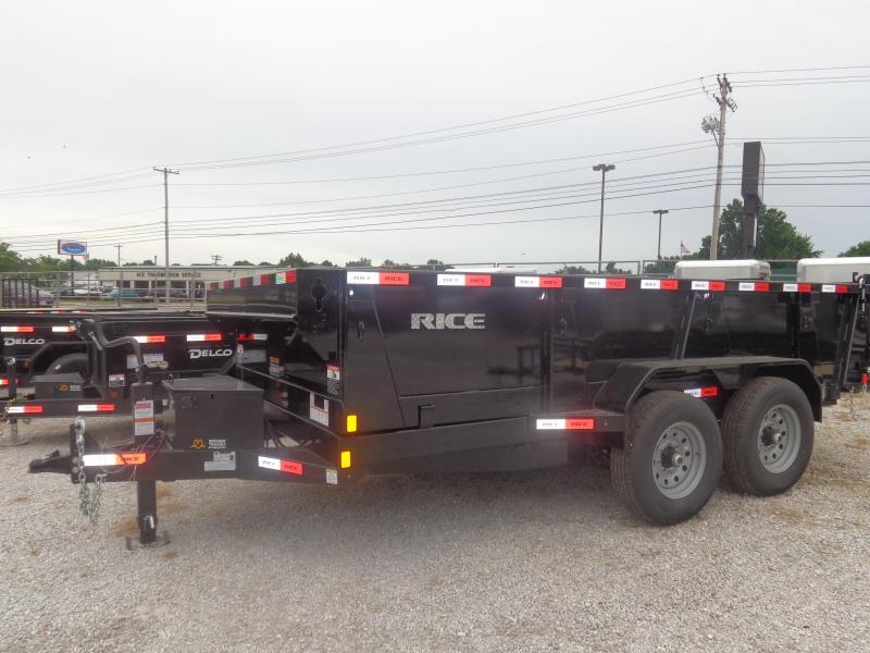 "Rice 82""x14' 14000# Bumper Pull Dump Trailer"