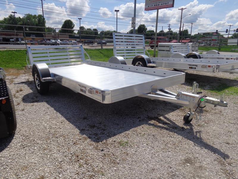 Hillsboro 78 x 14 Bumper Pull Aluminum Utility Trailer