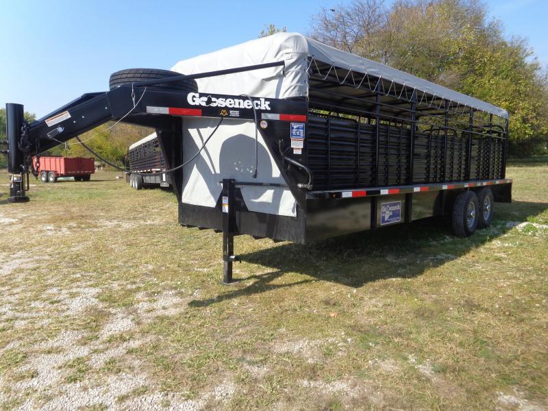USED 2020 Gooseneck Brand 24 x 6'8 Livestock Trailer