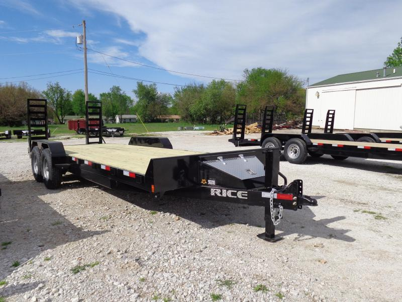 "Rice 82"" x 18'+2' 14000# Bumper Pull Flatbed Equipment Trailer"