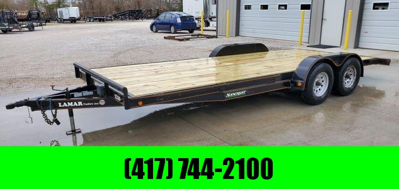 "2010 Lamar 83X20 TANDEM 7K CAR HAULER W/5"" FRAME NEW DECK NEW 10 PLY TIRES"