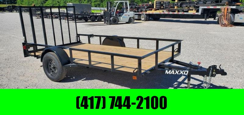 2020 MAXXD 77X12 SINGLE 3.5K WS UTILITY W/4' SPRING GATE