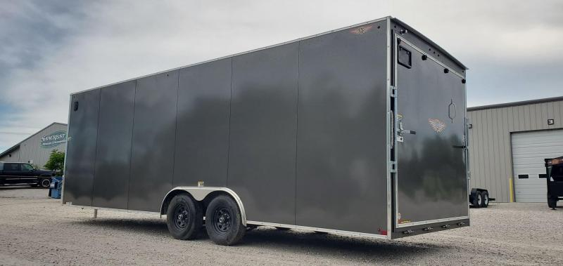 2020 H&H 101X24 TANDEM 10K CHARCOAL CARGO W/7' HEIGHT