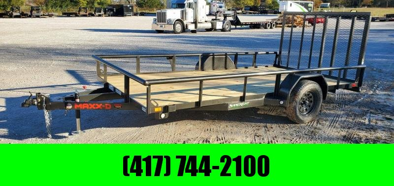 2021 MAXXD 83X14 SINGLE 3.5K PIPE TOP UTILITY W/4' SPRING GATE