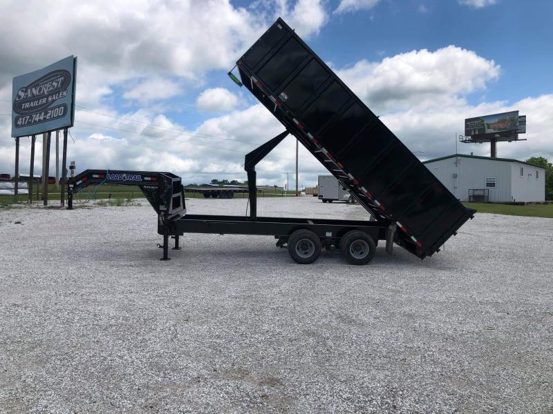 "2021 Load Trail 102"" x 20' Tandem Heavy Duty Gooseneck Dump Deck Over"