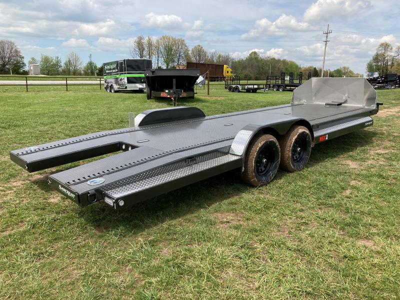 2021 MAXXD TANDEM 10K CARHAULER W/ 4FT SPLIT TAIL & SLIDE IN RAMPS