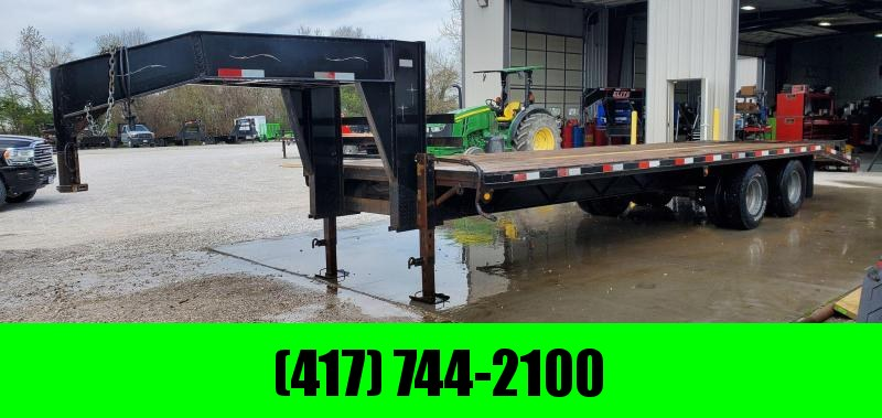 2005 Starlite 102X27 TANDEM GN FLATBED W/10K AXLES & 3 FLIP OVER RAMPS