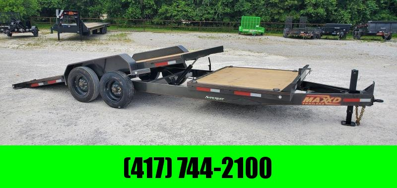 2020 MAXXD 83X22 TANDEM 16K METALLIC GRAY G8X GRAVITY TILT W/6' STATIONARY DECK