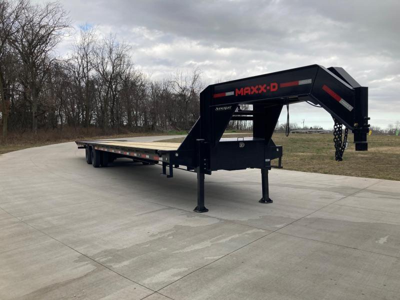 2021 MAXXD 102x40 Tandem 40K Flatbed Trailer W/ Torque Tube & Hydraulic Jacks & Hydrotail