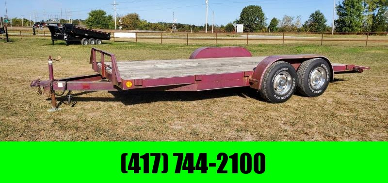 1994 Double 83X18 TANDEM 7K CAR HAULER W SLIDE OUT RAMPS NEW TIRES