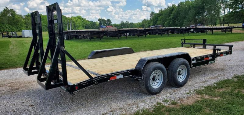 2021 Double A 83X20 TANDEM 14K EQUIPMENT HAULER W/WIDE STAND UP RAMPS