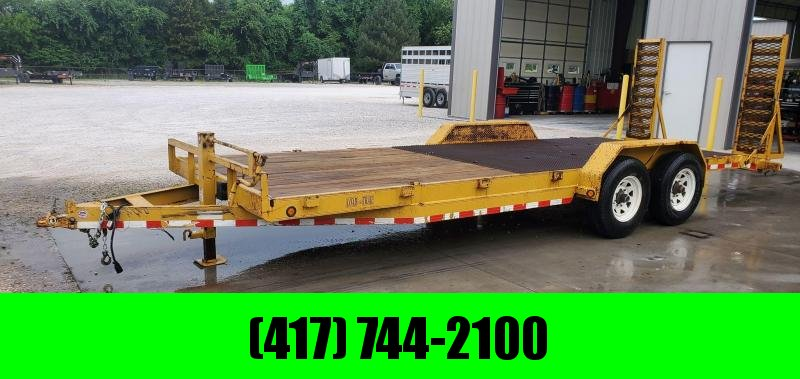 2005 Load Trail 83X22 TANDEM 14K YELLOW EQUIPMENT HAULER W/ STAND UP RAMPS & EXPANDED METAL