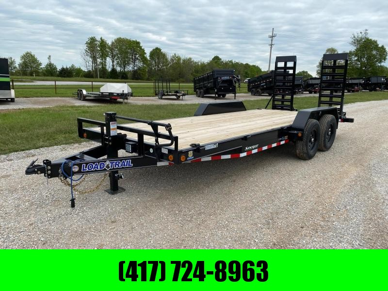 "2021 Load Trail 83X20 TANDEM 14K EQUIPMENT HAULER W/24"" WIDE STANDUPS"