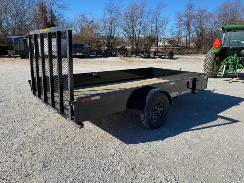 2021 H&H 76X12 SINGLE 3.5K SOLID SIDE UTILITY W/SPRING ASSIST GATE