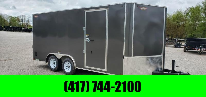 "2020 H and H 101X16 TANDEM 7K CHARCOAL METALLIC MIST CARGO W/6'6"" HEIGHT 7K REMOVABLE JACK & HD 4K RAMP DOOR"