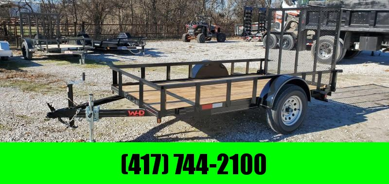 2020 W-D 60X10 SINGLE AXLE UTILITY W/4' GATE