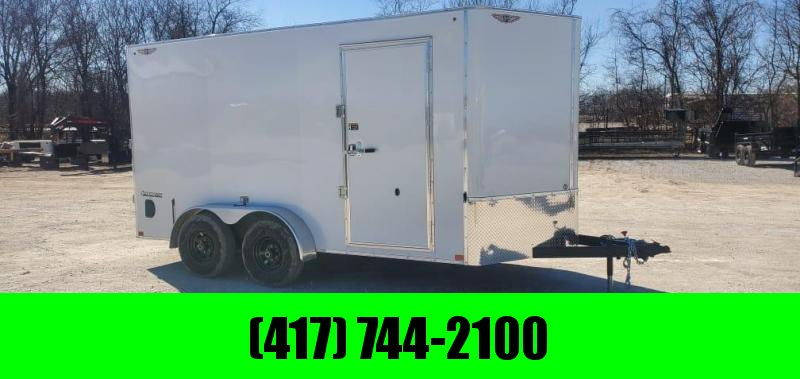 2021 H&H 7X14 TANDEM 10K CARGO W/7FT HEIGHT & BARN DOORS