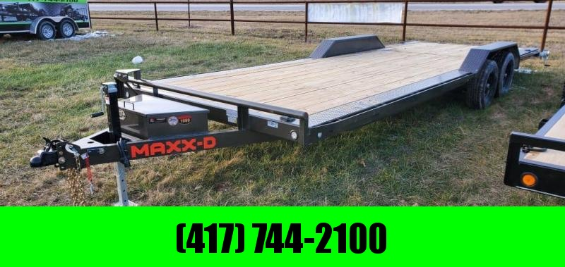 2021 MAXXD 102X24 TANDEM 10K BUGGY HAULER W/TOOLBOX STAB JACKS & SLIDE OUT RAMPS