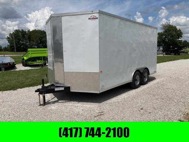 2021 Rock Solid 8.5X16 TANDEM 10K CARGO W/ TRANSISTION FLAP AND SIDE DOOR