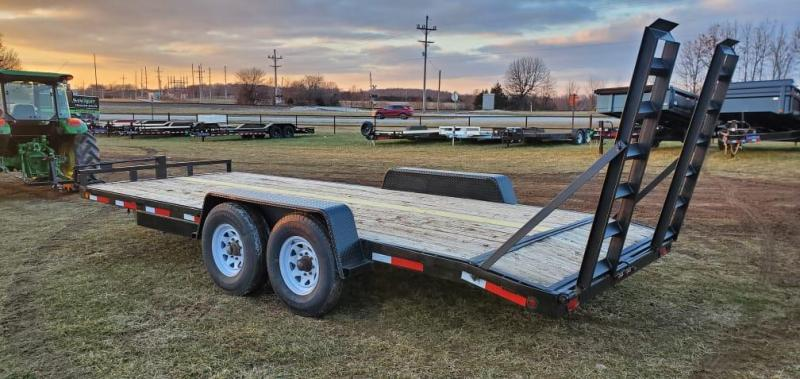 2002 TARG 83X20 TANDEM 14K EQUIPMENT HAULER W/STAND UP RAMPS