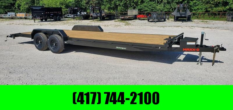 2021 MAXXD 83X24 TANDEM 10K CAR HAULER W/SLIDE OUT RAMPS WINCH PLATE & TOOLBOX