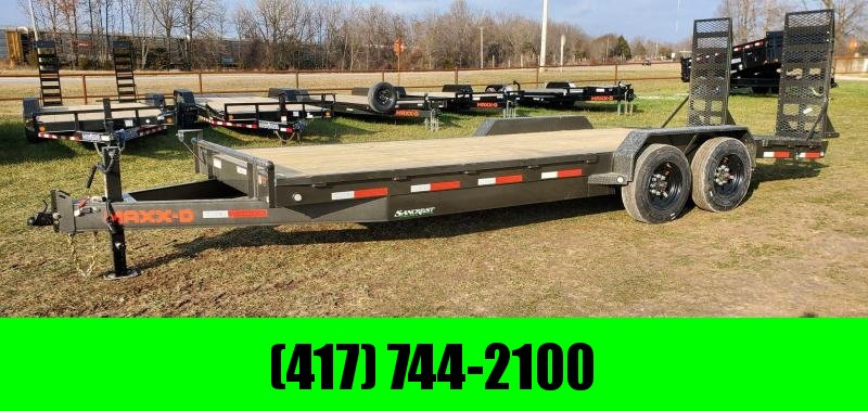 2021 MAXXD 83X22 TANDEM 16K C8X EQUIPMENT HAULER W/TRACTION BARS 8K AXLES 4' DOVE & HD EQUIPMENT STANDUPS