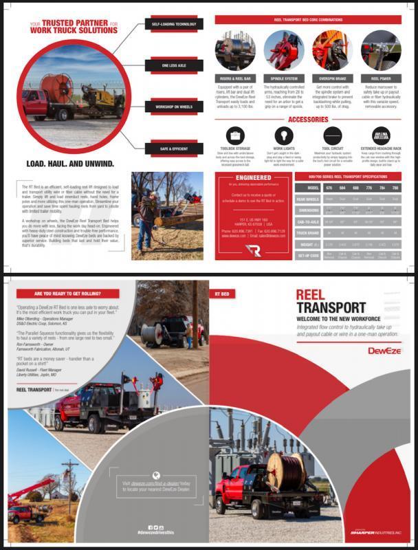 2022 Deweze 684 REEL BED Truck Bed
