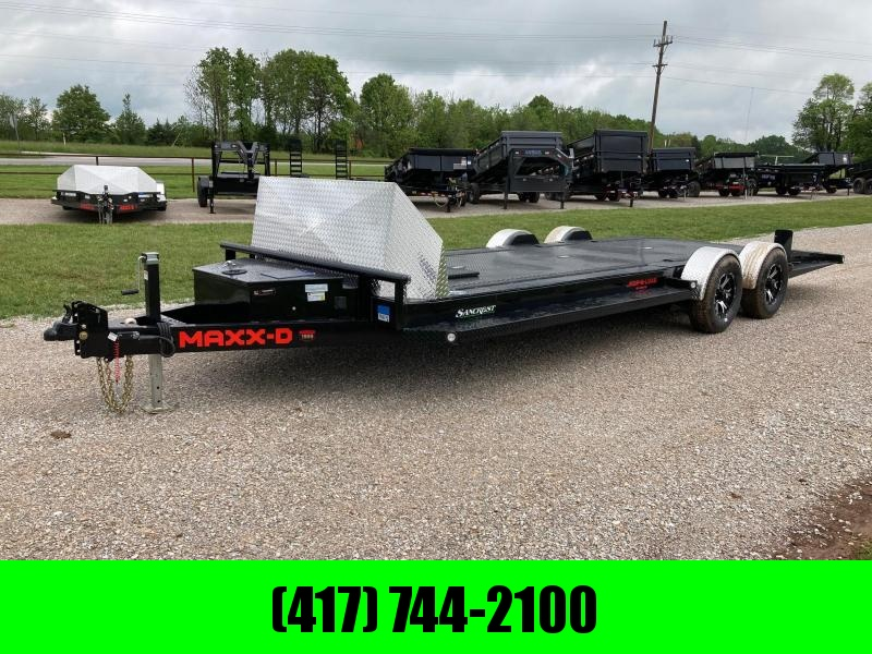2021 MAXXD 80X24 TANDEM 10K CAR HAULER W/ IN FLOOR TOOL BOX, IN FLOOR LIGHTS, ETRAC & SOLAR CHARGER