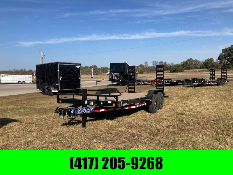 2021 Load Trail 83x22 Tandem Carhauler/ Equipment Trailer W/Stand Up Ramps