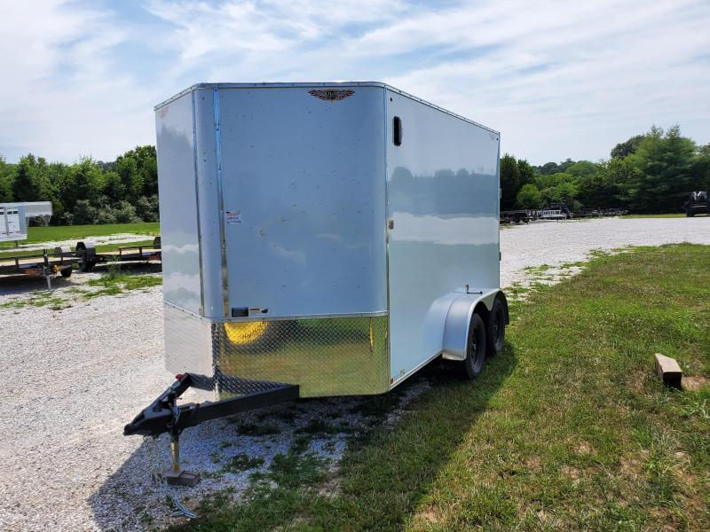 2021 H&H 7X12 TANDEM 7K WHITE CARGO W/7' HEIGHT